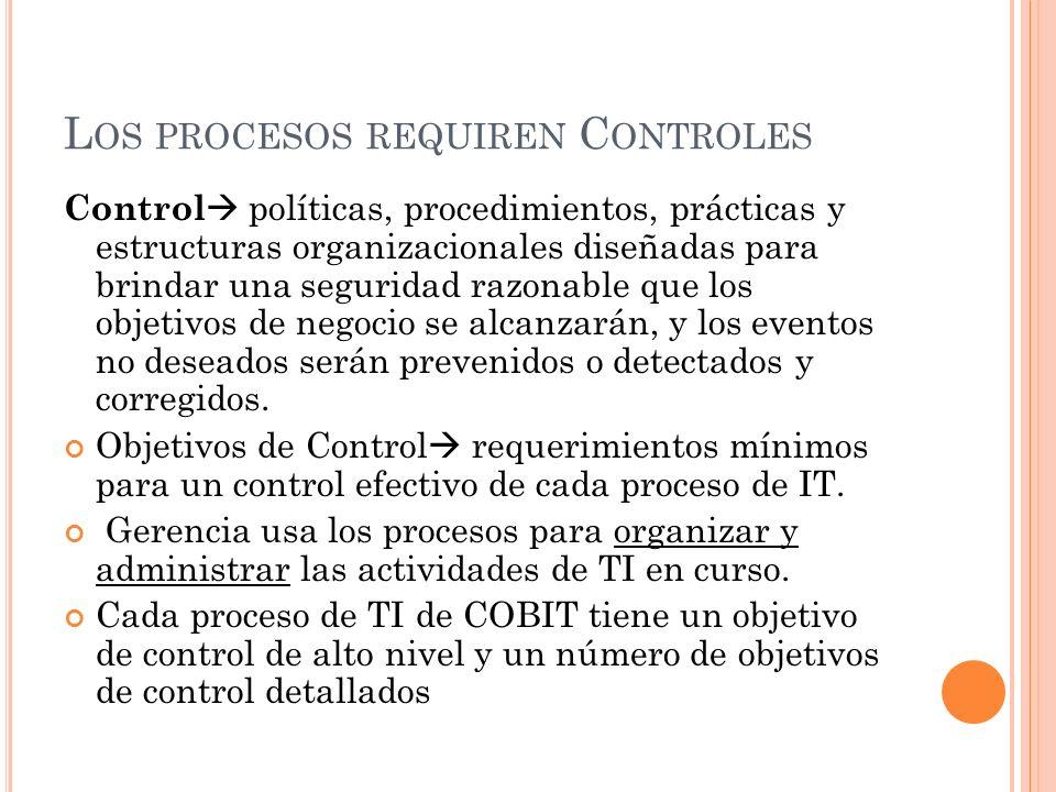 Los procesos requiren Controles
