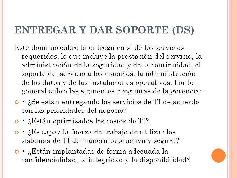 ENTREGAR Y DAR SOPORTE (DS)