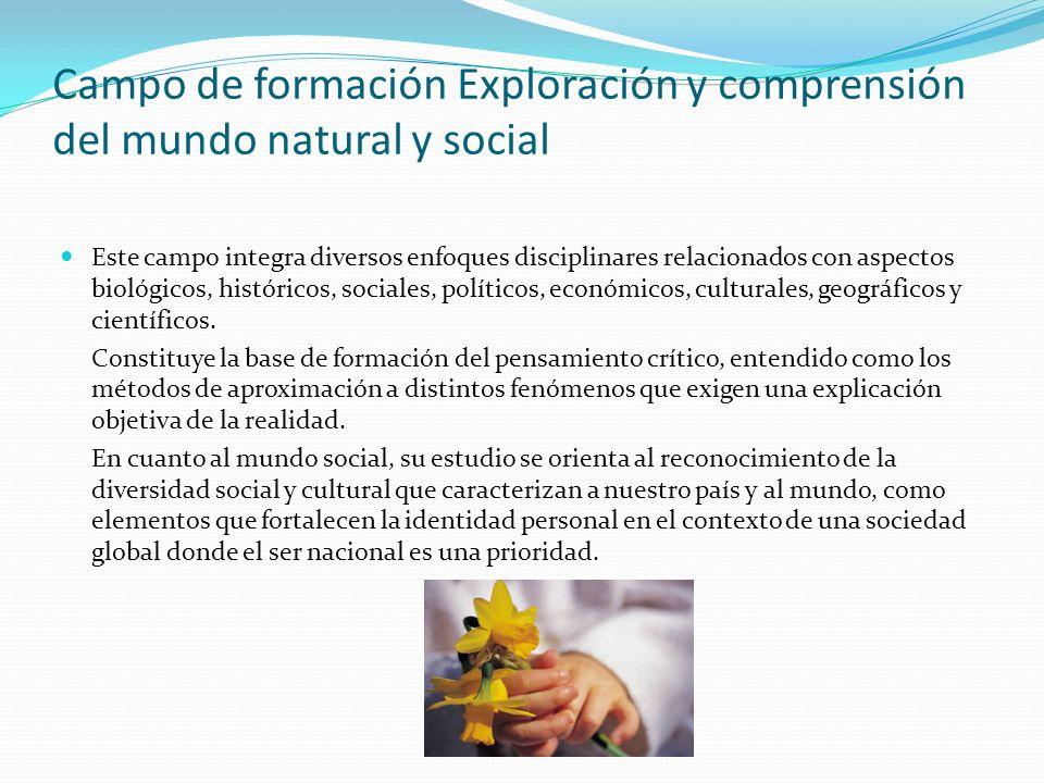 Campo de formación Exploración y comprensión del mundo natural y social