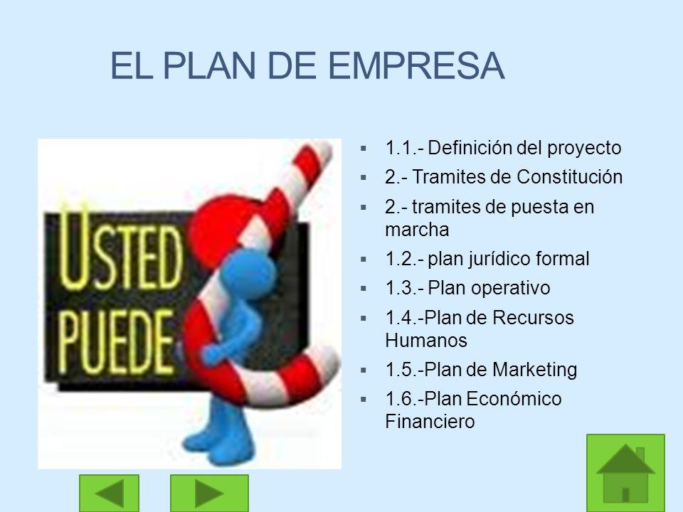 EL PLAN DE EMPRESA 1.1.- Definición del proyecto