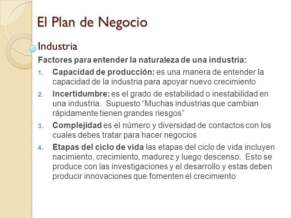 El Plan de Negocio Industria