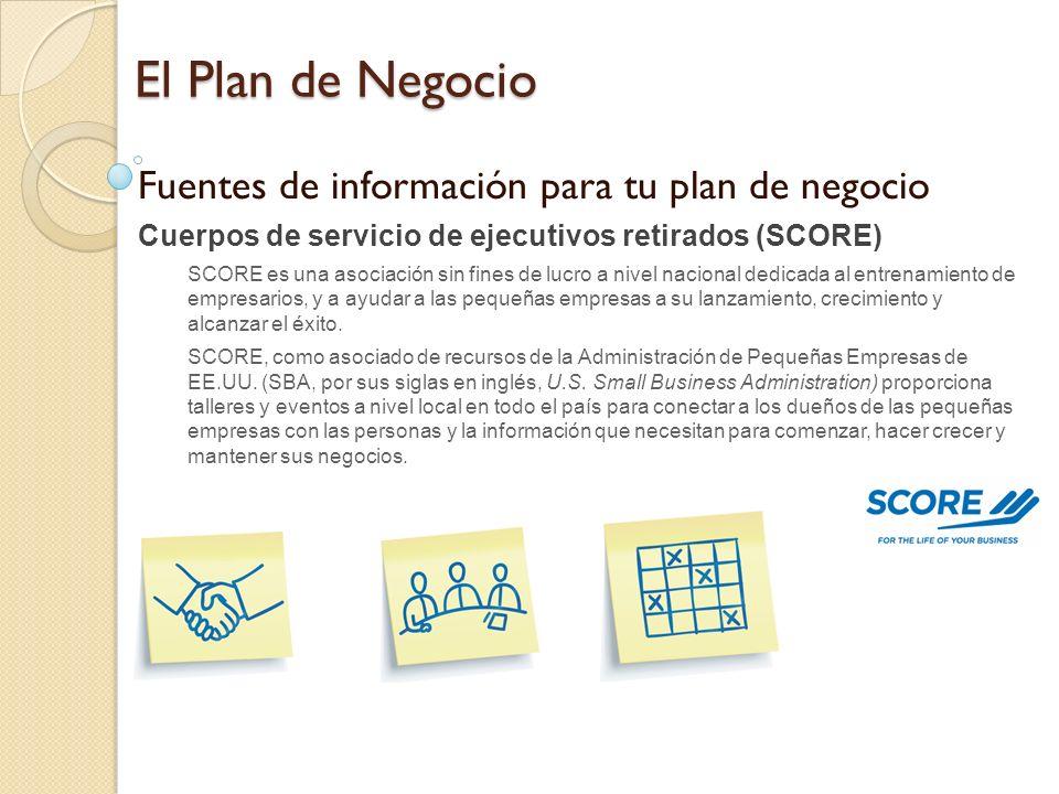 El Plan de Negocio Fuentes de información para tu plan de negocio