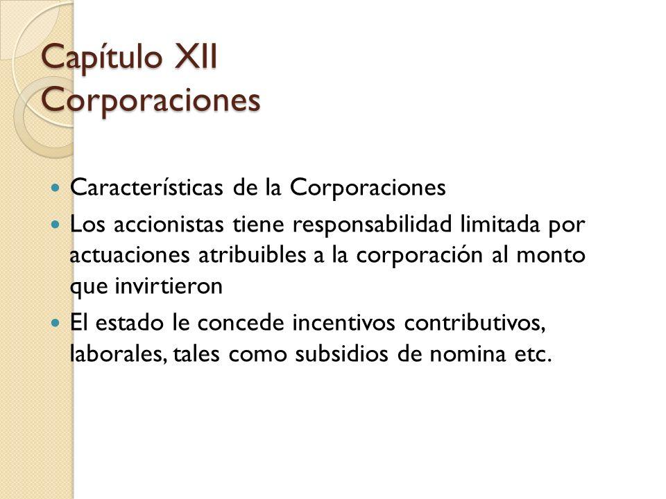 Capítulo XII Corporaciones