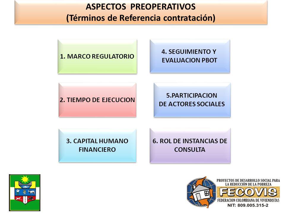 ASPECTOS PREOPERATIVOS (Términos de Referencia contratación)