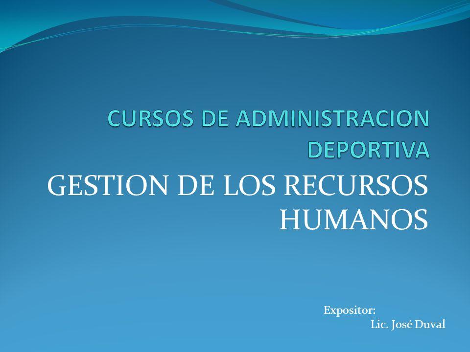 CURSOS DE ADMINISTRACION DEPORTIVA