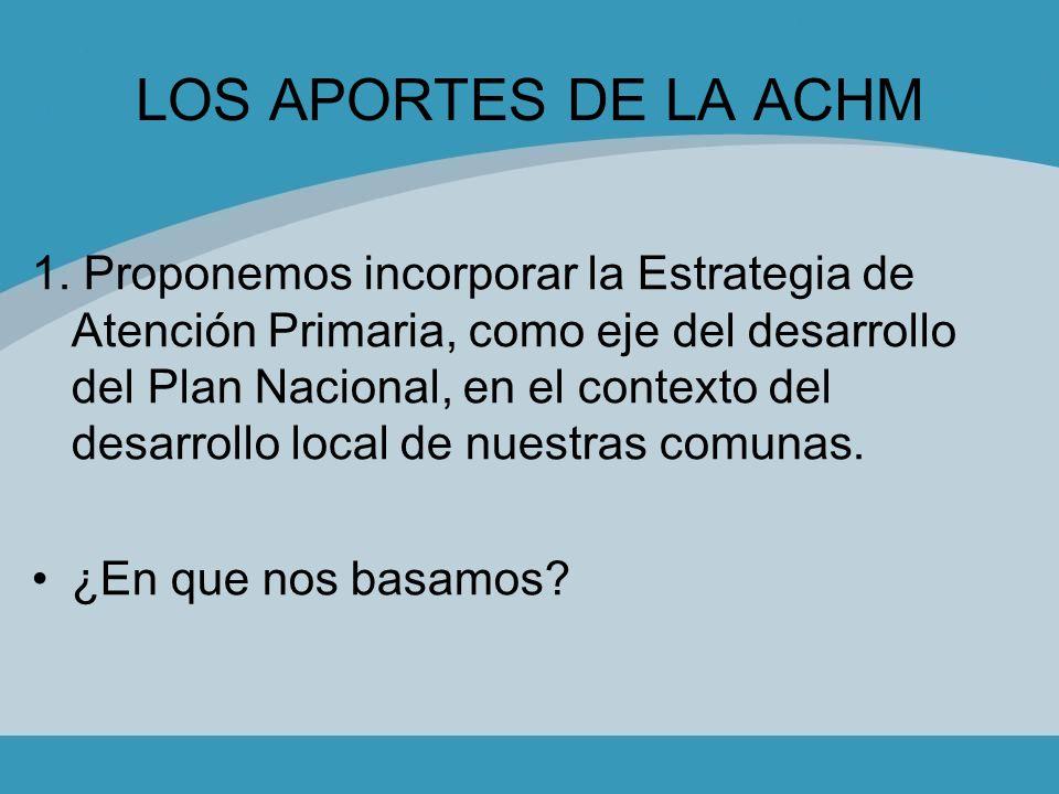 LOS APORTES DE LA ACHM