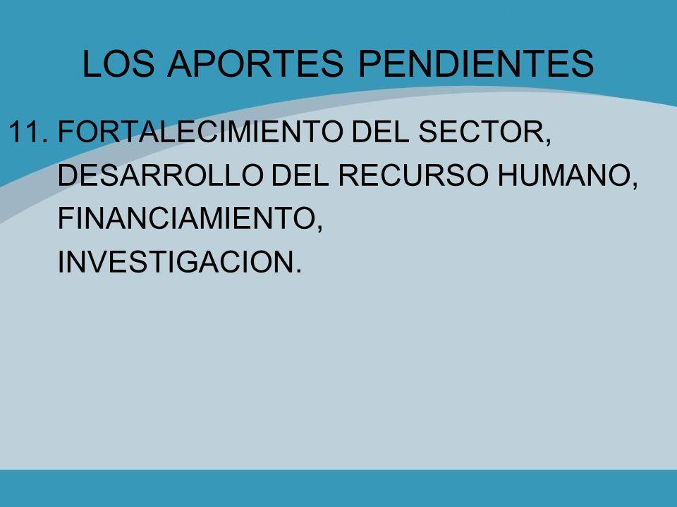 LOS APORTES PENDIENTES