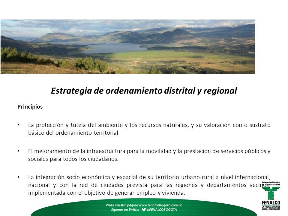 Estrategia de ordenamiento distrital y regional