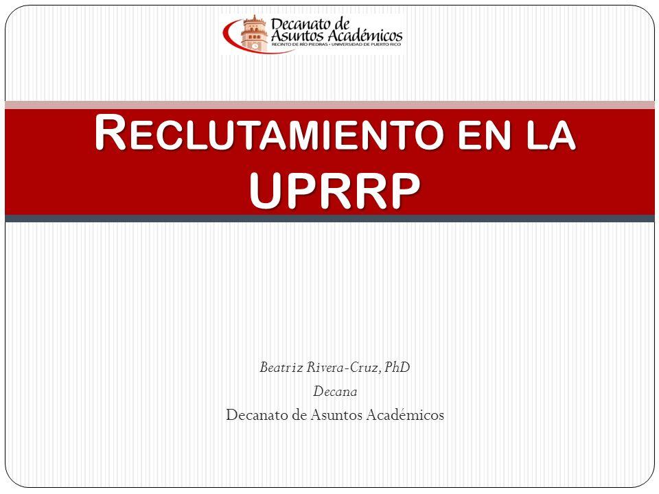Reclutamiento en la UPRRP