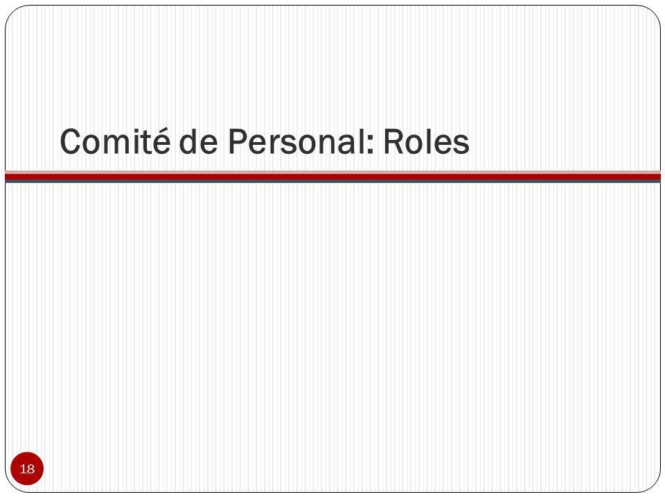 Comité de Personal: Roles