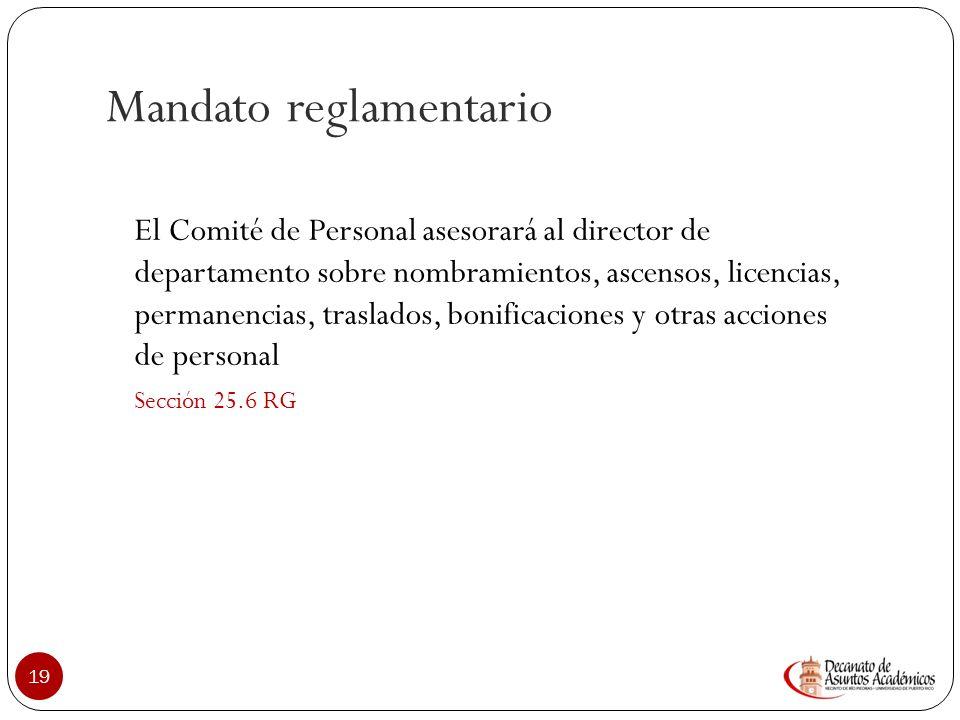 Mandato reglamentario