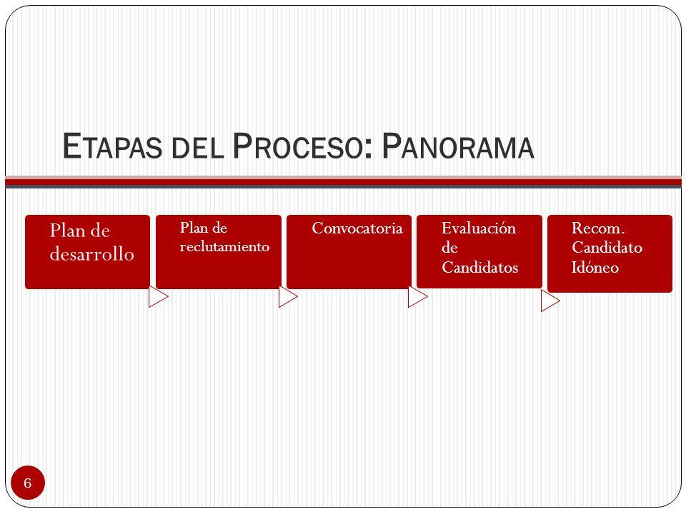 Etapas del Proceso: Panorama