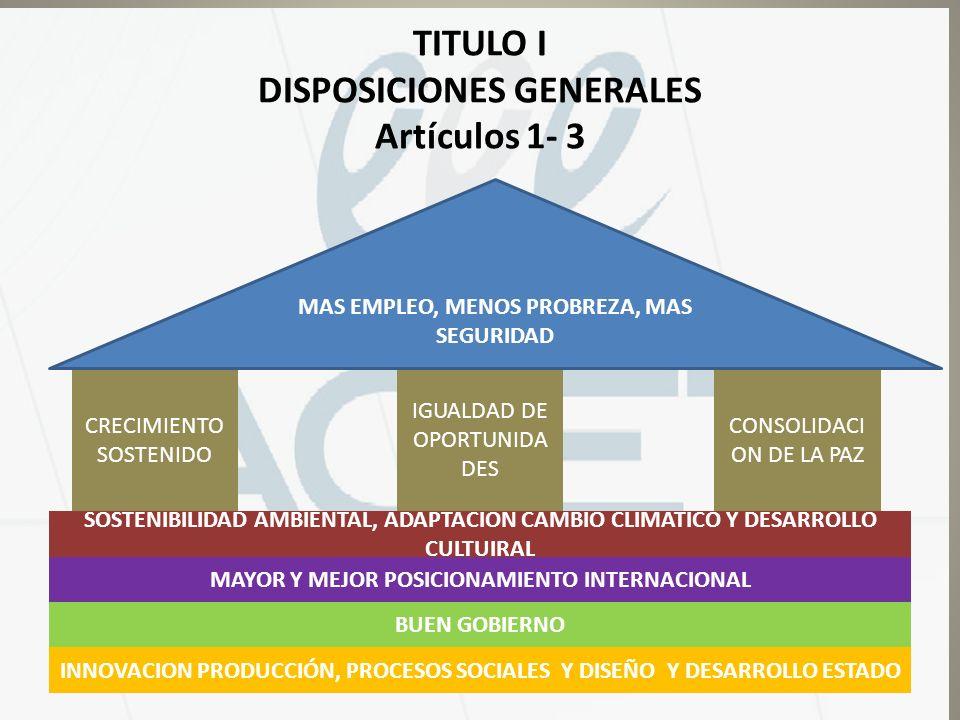 TITULO I DISPOSICIONES GENERALES Artículos 1- 3
