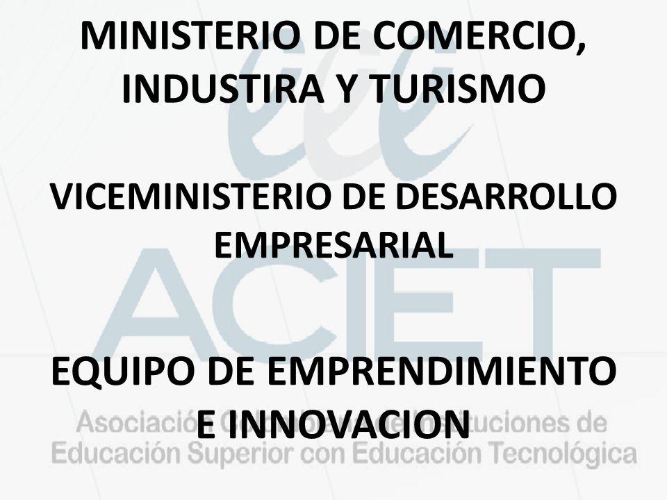 MINISTERIO DE COMERCIO, INDUSTIRA Y TURISMO