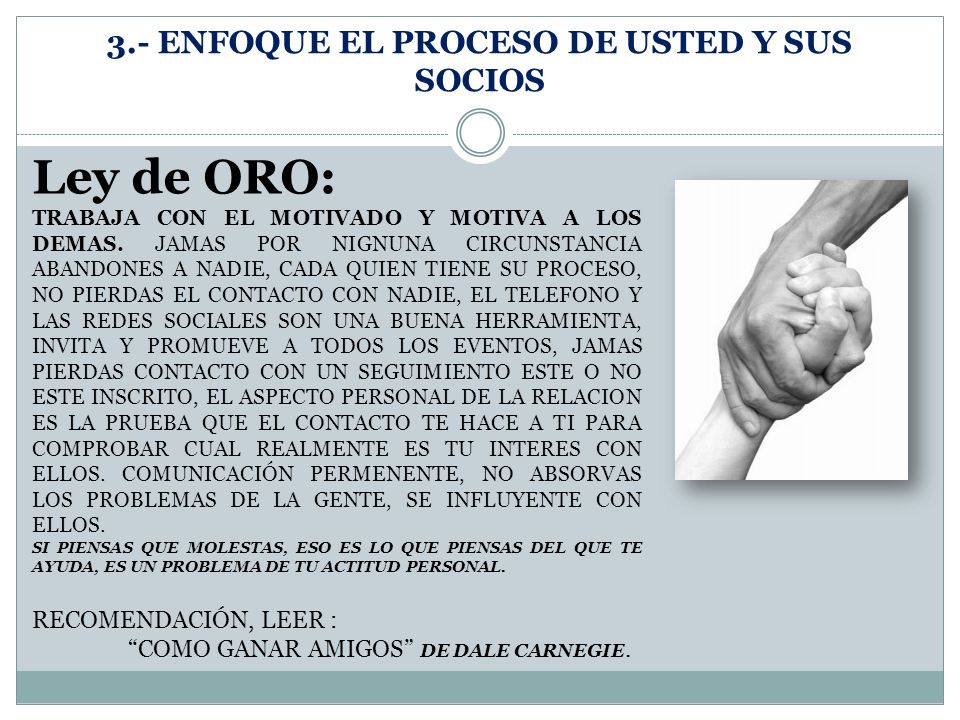 3.- ENFOQUE EL PROCESO DE USTED Y SUS SOCIOS
