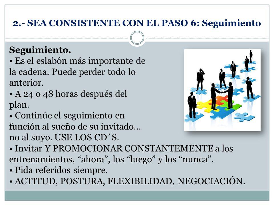 2.- SEA CONSISTENTE CON EL PASO 6: Seguimiento