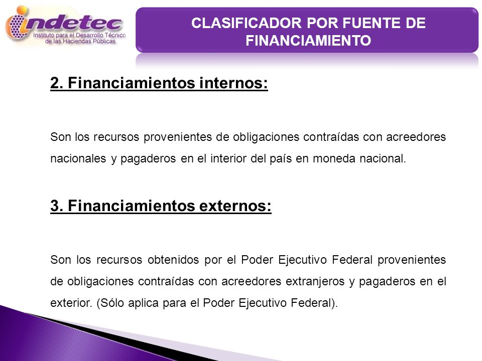 CLASIFICADOR POR FUENTE DE FINANCIAMIENTO