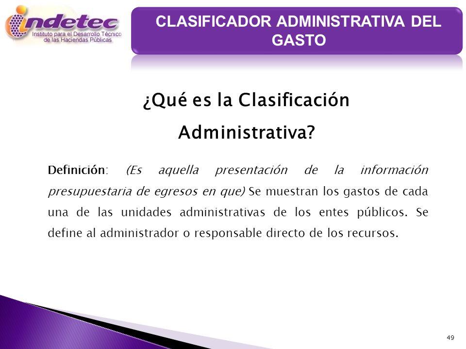 ¿Qué es la Clasificación Administrativa