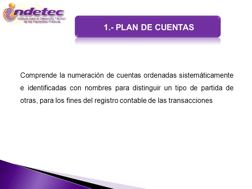 1.- PLAN DE CUENTAS