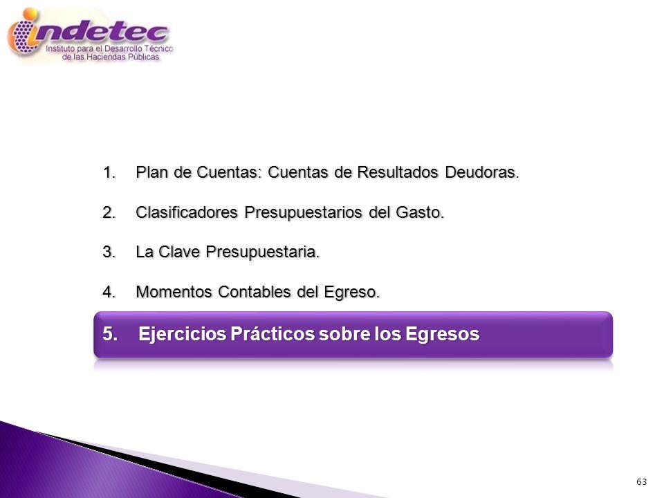 5. Ejercicios Prácticos sobre los Egresos