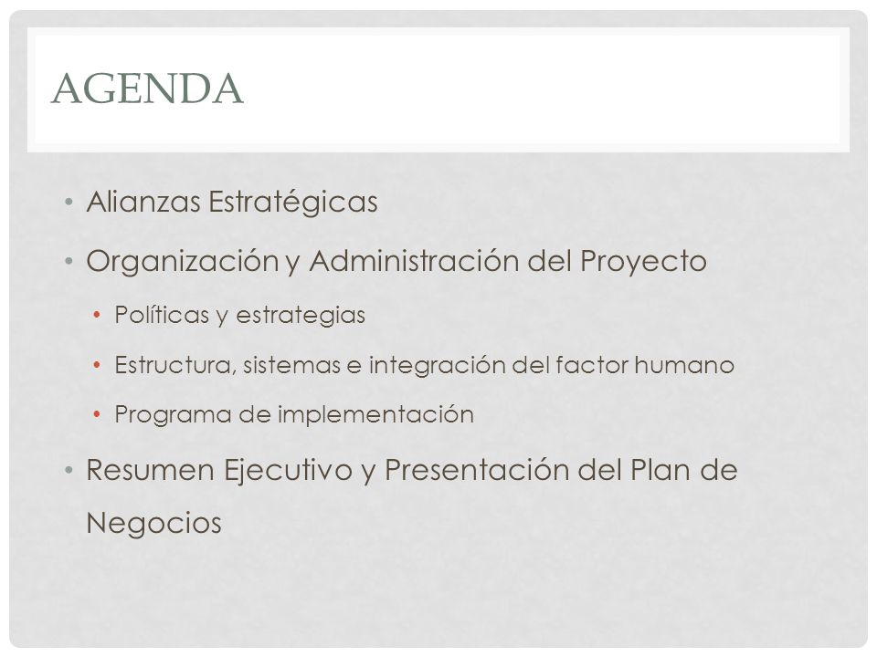 Agenda Alianzas Estratégicas
