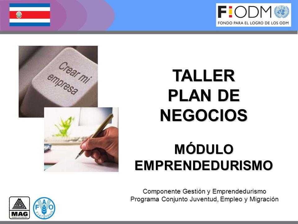 TALLER PLAN DE NEGOCIOS