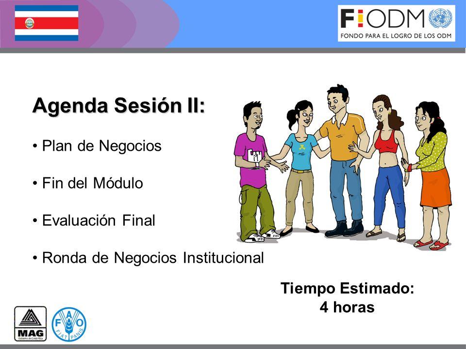 Agenda Sesión II: Plan de Negocios Fin del Módulo Evaluación Final