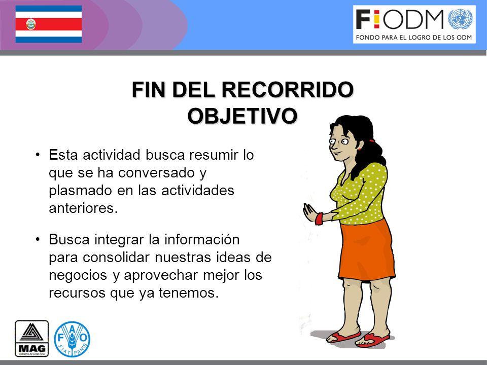 FIN DEL RECORRIDO OBJETIVO