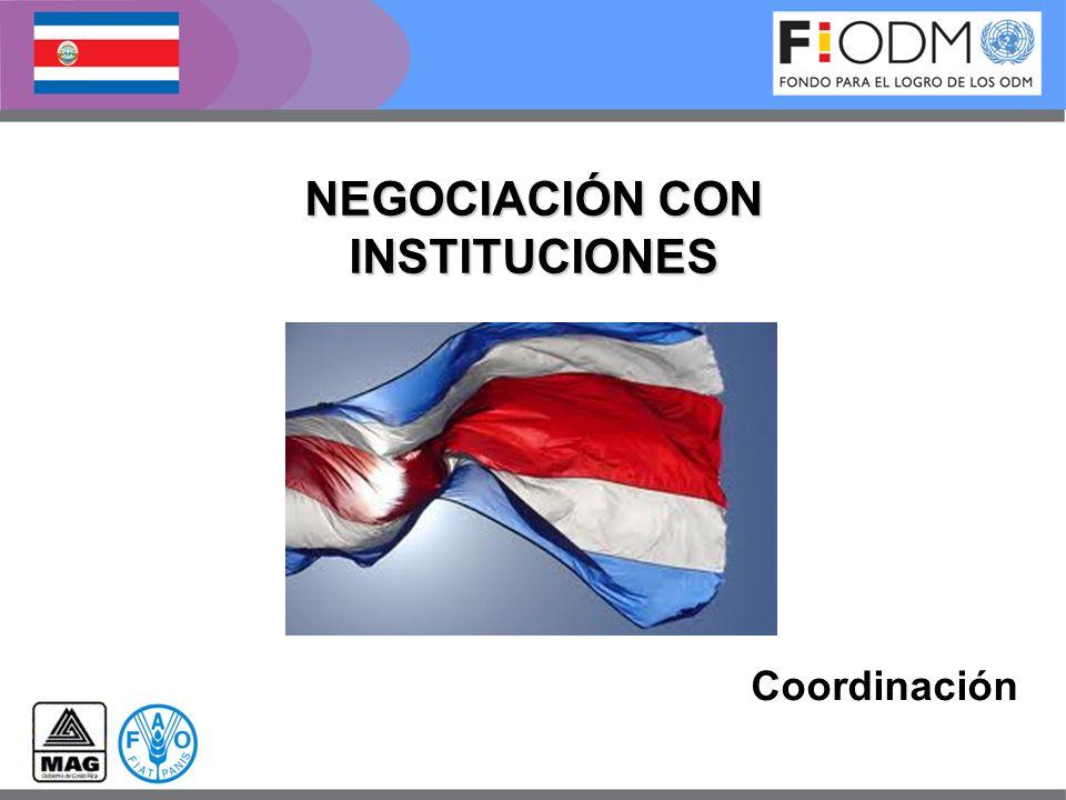 NEGOCIACIÓN CON INSTITUCIONES