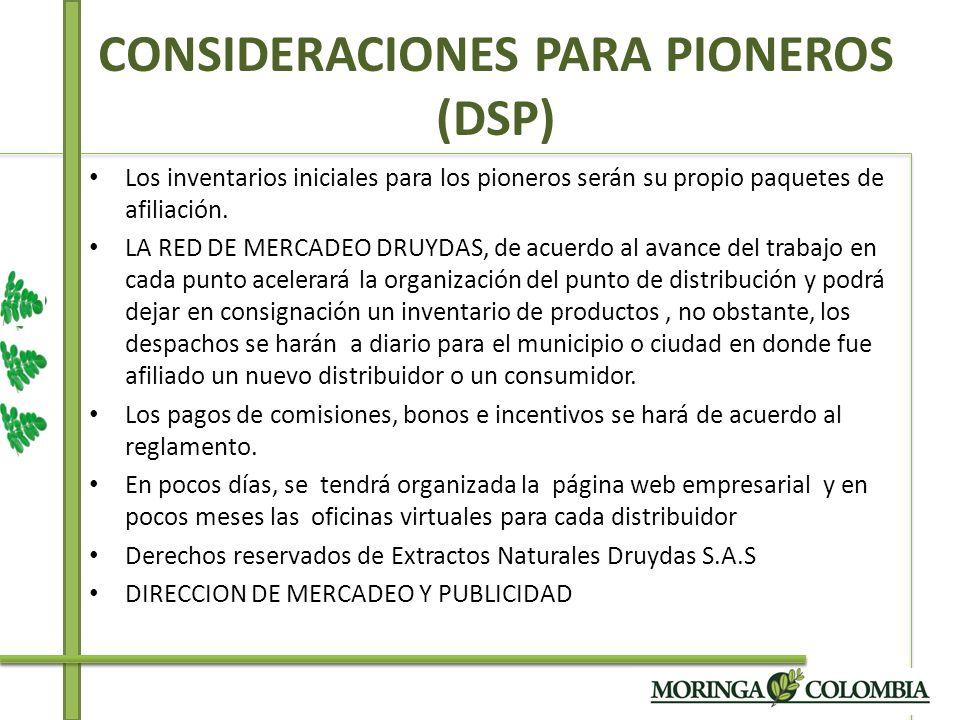 CONSIDERACIONES PARA PIONEROS (DSP)