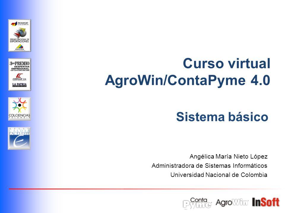 Curso virtual AgroWin/ContaPyme 4.0 Sistema básico