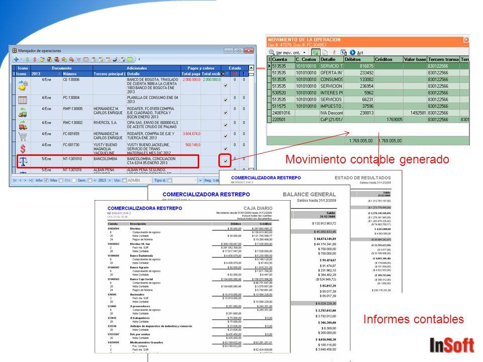 Movimiento contable generado