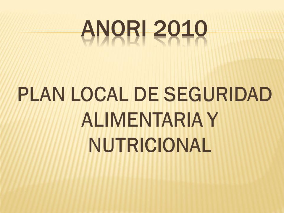 PLAN LOCAL DE SEGURIDAD ALIMENTARIA Y NUTRICIONAL