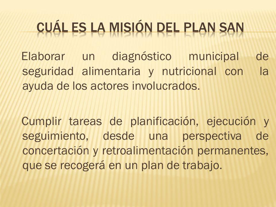 Cuál eS la misión del plan san