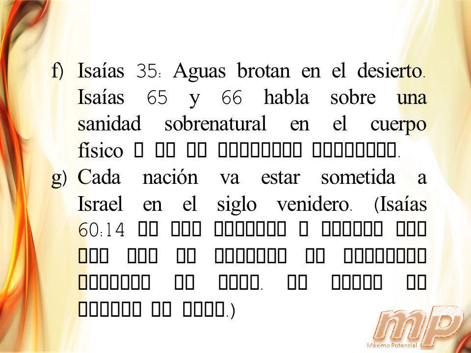 Isaías 35: Aguas brotan en el desierto