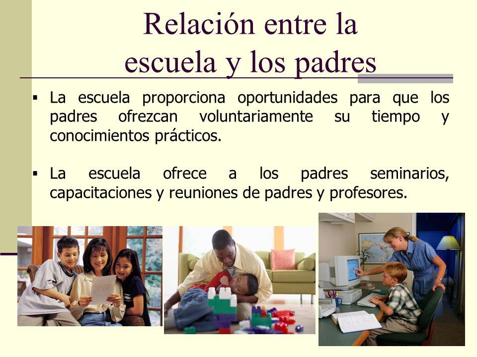 Relación entre la escuela y los padres