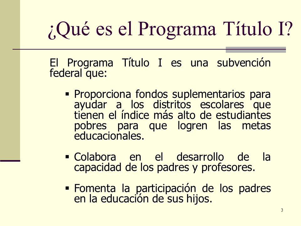 ¿Qué es el Programa Título I