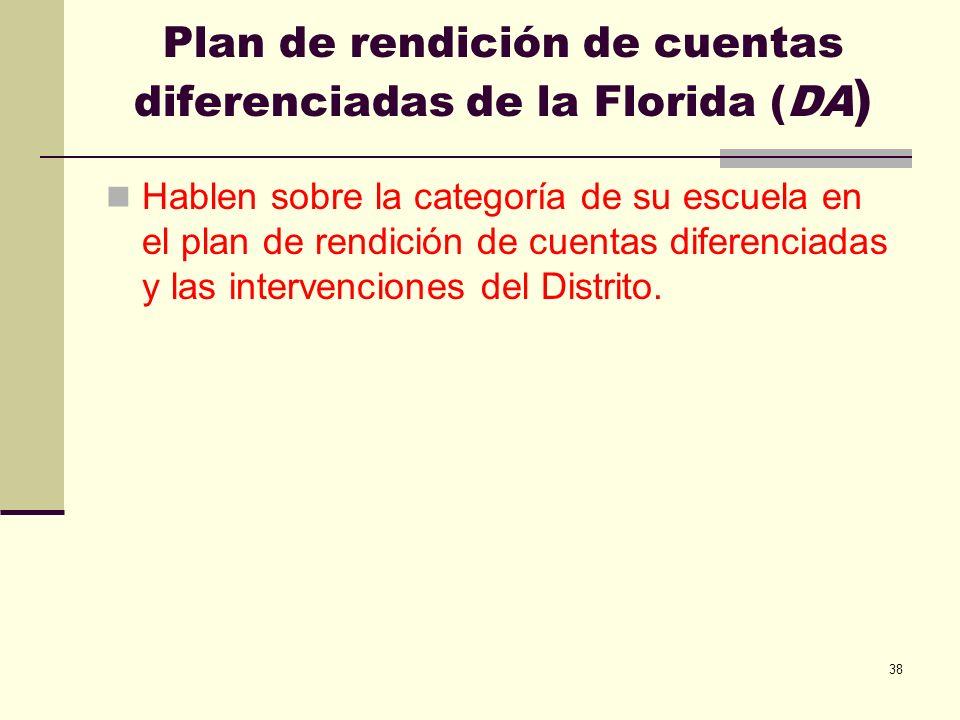 Plan de rendición de cuentas diferenciadas de la Florida (DA)