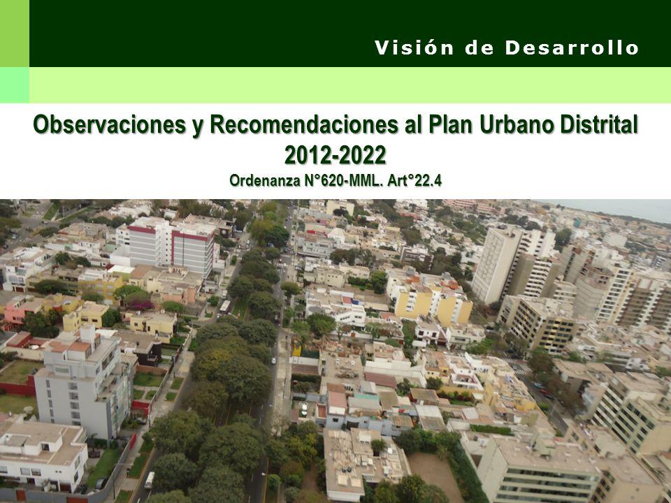 Observaciones y Recomendaciones al Plan Urbano Distrital