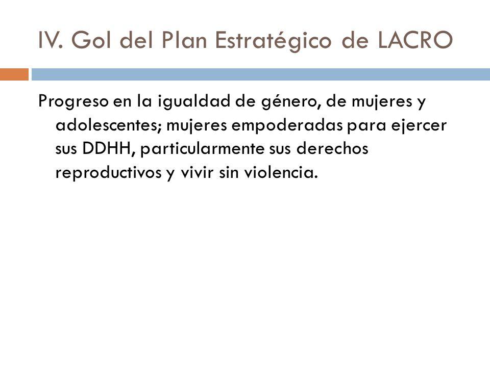 IV. Gol del Plan Estratégico de LACRO
