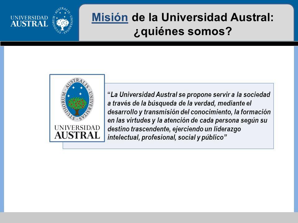 Misión de la Universidad Austral: ¿quiénes somos