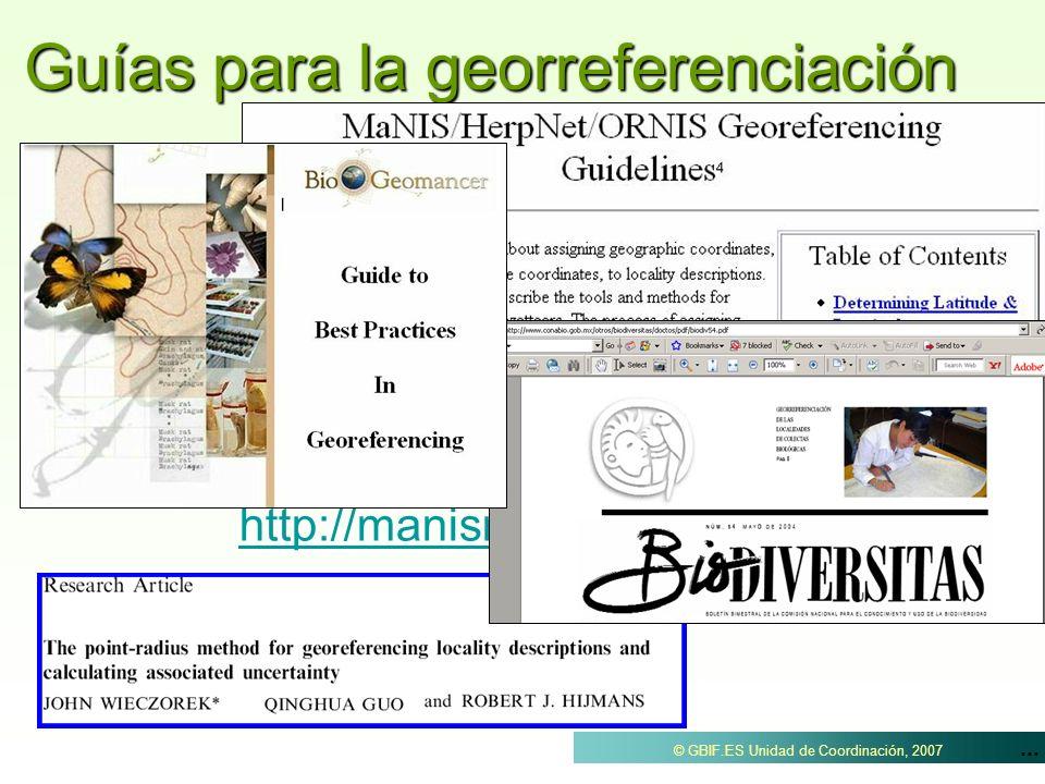 Guías para la georreferenciación