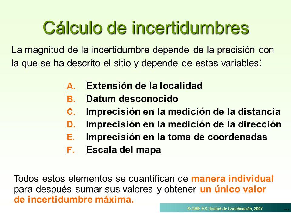 Cálculo de incertidumbres