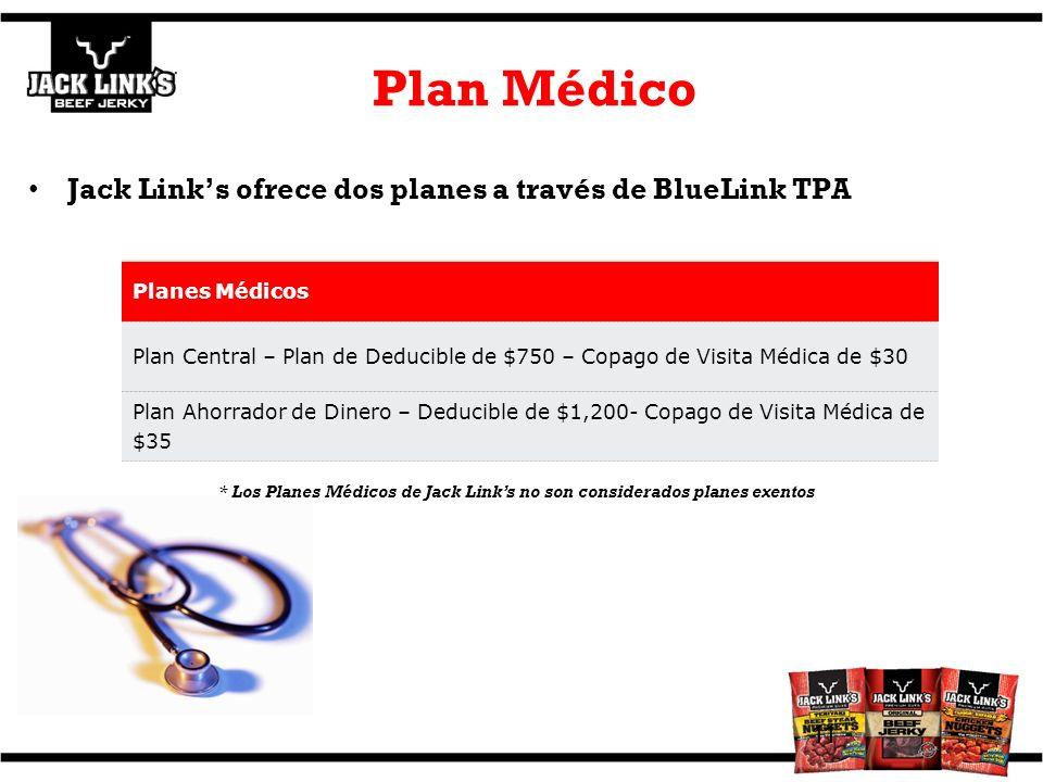 Plan Médico Jack Link's ofrece dos planes a través de BlueLink TPA
