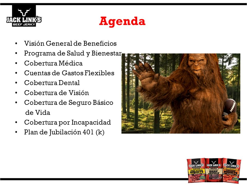 Agenda Visión General de Beneficios Programa de Salud y Bienestar