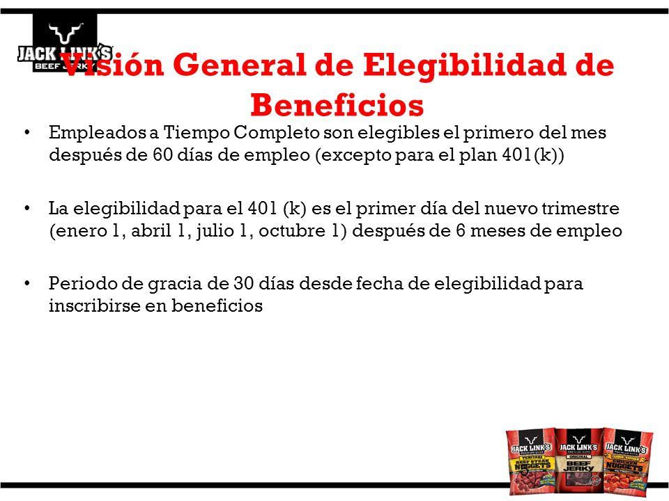 Visión General de Elegibilidad de Beneficios