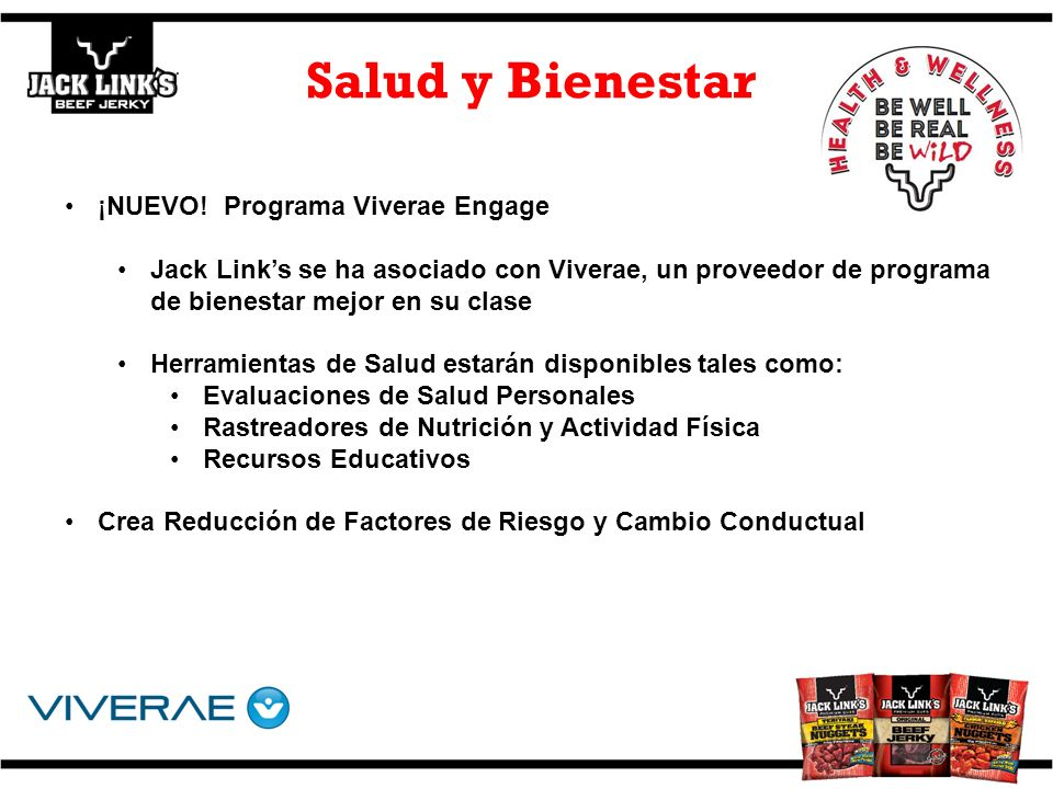 Salud y Bienestar ¡NUEVO! Programa Viverae Engage