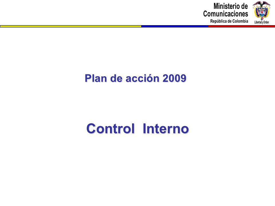 Plan de acción 2009 Control Interno