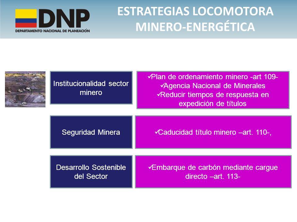 Estrategias locomotora minero-energética