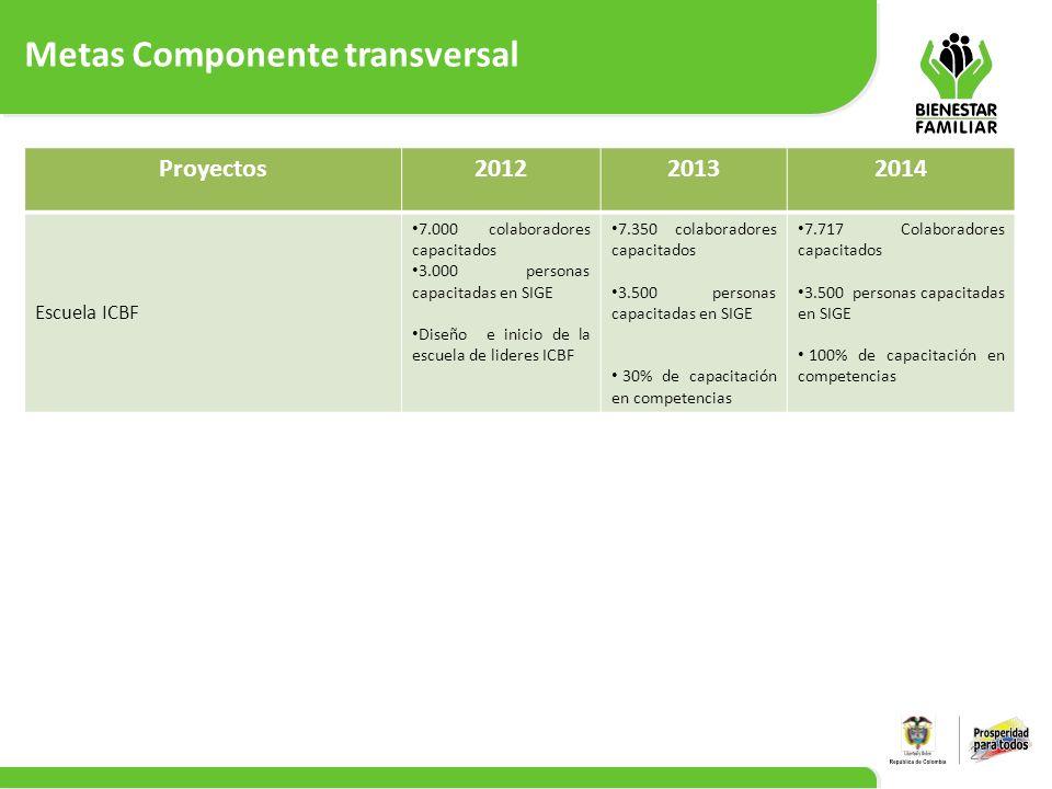 Metas Componente transversal